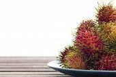 Rambutan In Dish