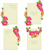set wedding invitation card