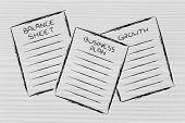 Business Documents: Balance Sheet, Business Plan, Growth