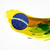 brazil flag abstract design