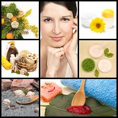 Spa And Natural Cosmetics Collage