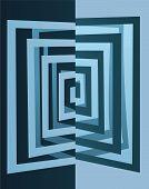 Abstract Cutout Cube Vector