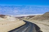 Driving On The Interstate 187 In Death Valley