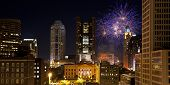 Red, White & Boom light the Columbus, Ohio skyline.