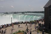 Niagara Falls, Canadian, with Tourists