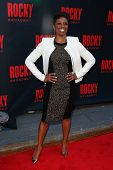 NEW YORK-MAR 13: Stage actress Montego Glover attends the 'Rocky' Broadway opening night at the Wint