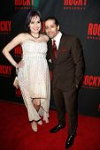 NEW YORK-MAR 13: Actors Denisse Ambert and Luis Salgado attend the 'Rocky' Broadway opening night af