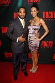 NEW YORK-MAR 13: Actor Wallace Smith and guest attend the 'Rocky' Broadway opening night after party