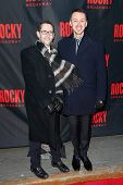 NEW YORK-MAR 13: Film marketing executive David Block (L) and composer Andrew Lippa attend the 'Rock
