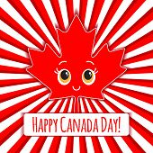 Happy Canada Day card. Vector.