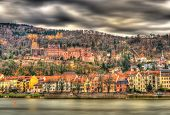 View Of Heidelberg With The Castle, Baden-wurttemberg - Germany