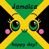 Jamaica happy day Greeting card.