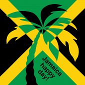 foto of rastaman  - Jamaica happy day Greeting card - JPG