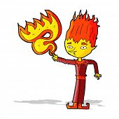 fire spirit cartoon