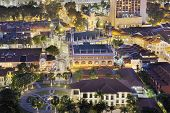 picture of malay  - Sultan Mosque in Malay Kampong Glam at Night Aerial View - JPG