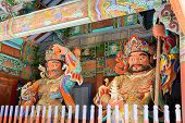 pic of seoraksan  - Guardian Demons at the Gates of Buddhist Sinheungsa Temple in Seoraksan National Park - JPG