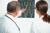 Doctors Examine Mri Image