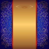 blue royal invitation card