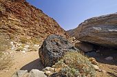 image of anza  - Dramatic Rocks along the Palm Canyon Trail in Anza - JPG