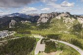 Aerial View Of Mount Rushmore