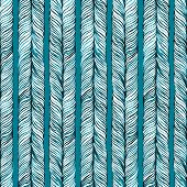 Vector Seamless Pattern consist of Plait. Hair