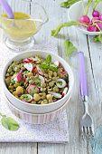 Fresh lentil salad