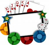 Frame Illustration Featuring Different Gambling Implements