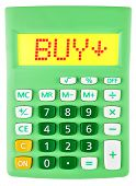 Calculator With Buy On Display Isolated