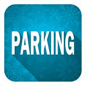 parking flat icon, christmas button