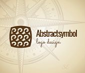 Abstract Logo design. Concept wave geometric shapes