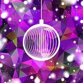 abstract purple christmas ball