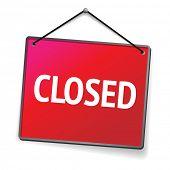 red closed door sign
