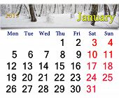 Calendar For The January Of 2015 Year