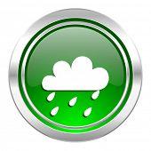 rain icon, green button, waether forecast sign