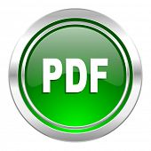 pdf icon, green button
