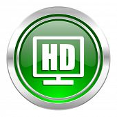 hd display icon, green button