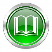 book icon, green button