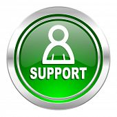 support icon, green button