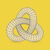 3d vector illustration. Ã??Ã???an be used as design element, emblem, icon.