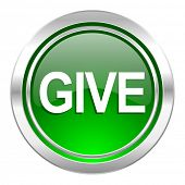 give icon, green button