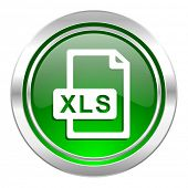 xls file icon, green button
