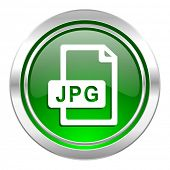 jpg file icon, green button