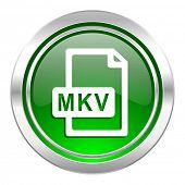 mkv file icon, green button