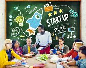 Start Up Business Launch Success Study Learning Concept