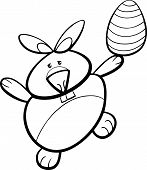 Bunny With Easter Egg Coloring Page