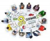 Teamwork Team Together Collaboration Meeting Working Office Concept