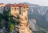 Monasteries Build On Top Of Sandstone Ridge