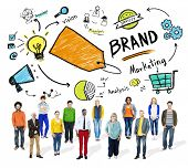 Diverse People Isolated Team Marketing Brand Concept