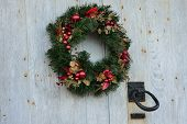 Christmas wreath with door knocker