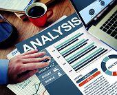 Analysis Businessman Calculating Balance Thinking Planning Paperwork Concept